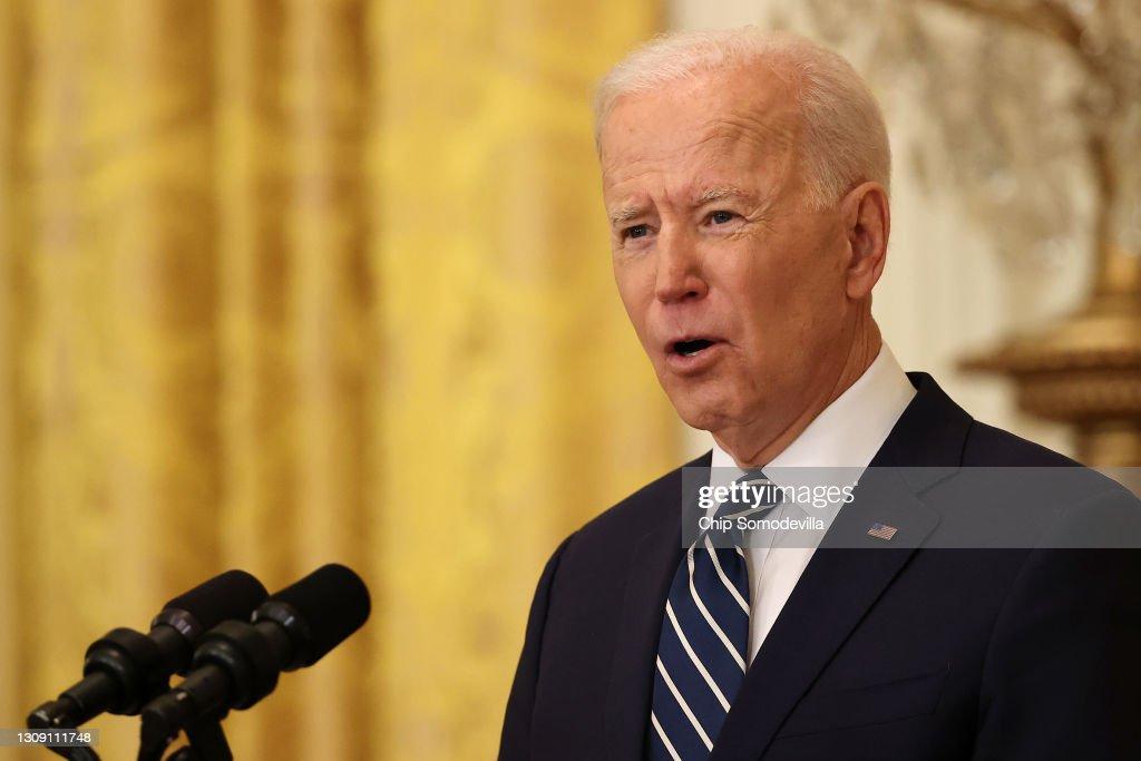 Joe Biden Holds First Press Conference As President : News Photo