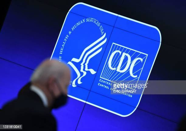 President Joe Biden tours the Centers for Disease Control and Prevention in Atlanta, Georgia, on March 19, 2021.
