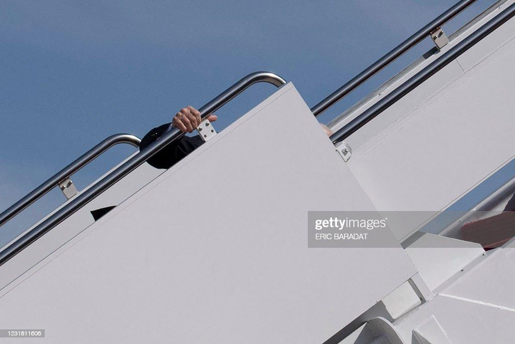 US-POLITICS-BIDEN-DEPARTURE : News Photo