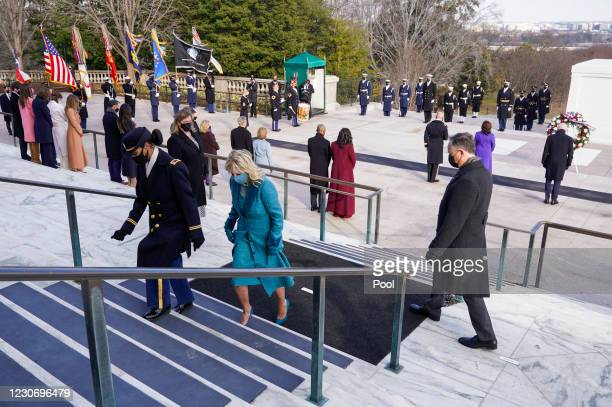 President Joe Biden, Vice President Kamala Harris, Major General Omar J. Jones, U.S. First lady Jill Biden, U.S. Former President Bill Clinton with...