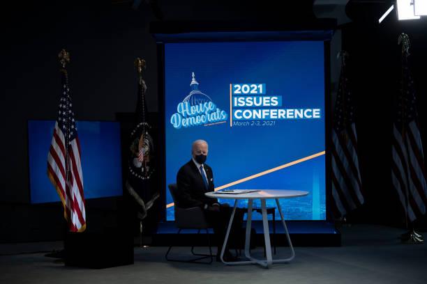 DC: President Biden Participates In Virtual Event With House Democratic Caucus