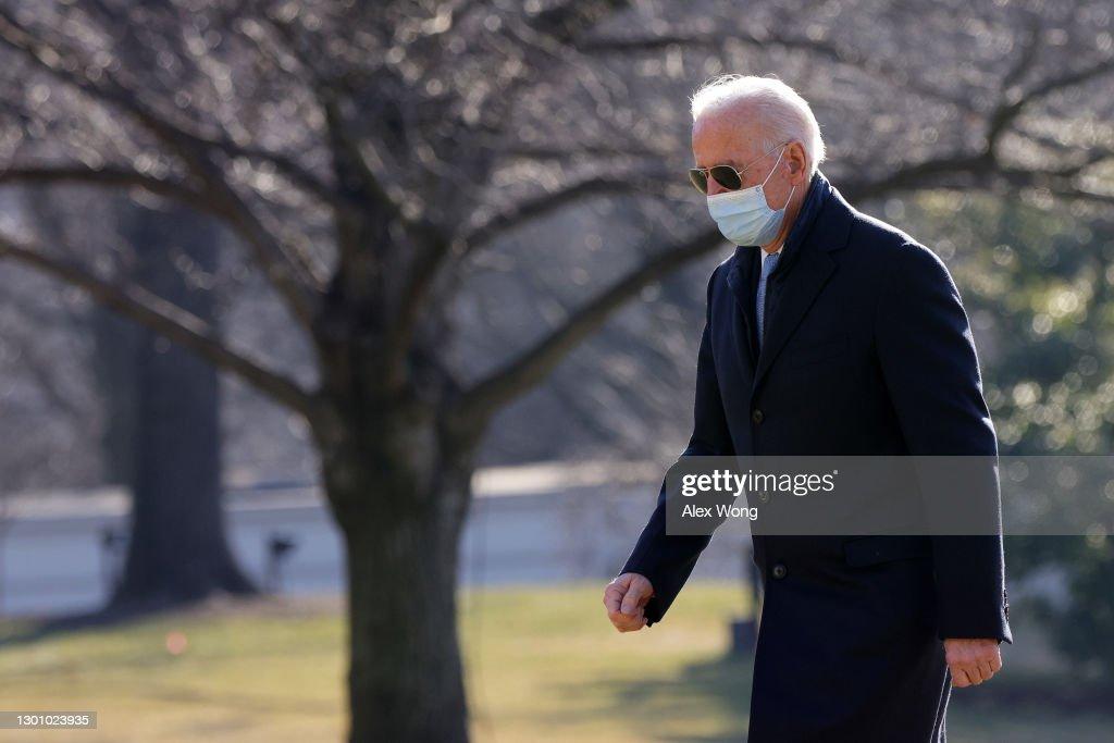 President Biden Arrives At White House From Delaware On Monday Morning : News Photo