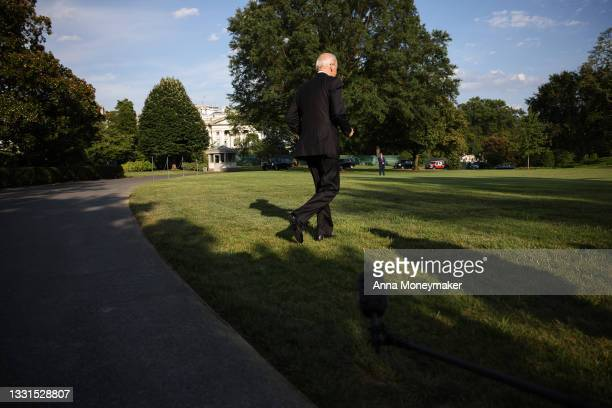 President Joe Biden walks to Marine One for a departure from the South Lawn of the White House on July 30, 2021 in Washington, DC. President Biden is...