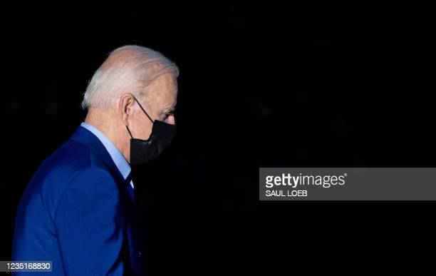President Joe Biden walks to Marine One prior to departure from the South Lawn of the White House in Washington, DC, September 10 as he travels to...