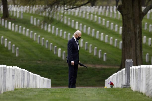VA: President Biden Visits Section 60 Of Arlington National Cemetery