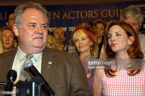 President John Connolly and SAG President Melissa Gilbert