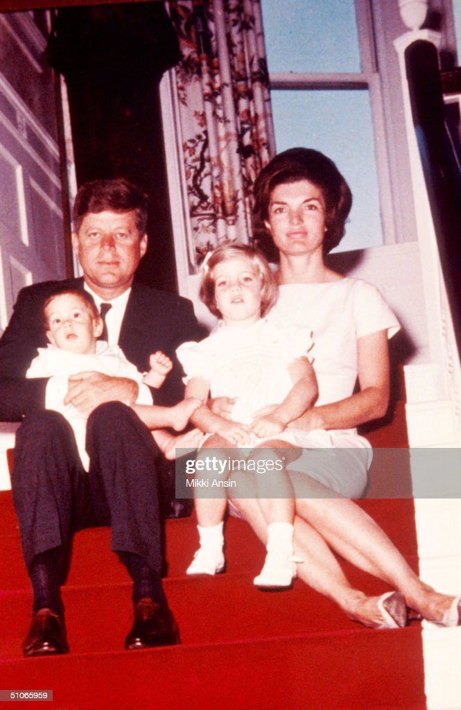 John F Kennedy Left His Wife Jacqueline Kennedy And Their Chil : News Photo