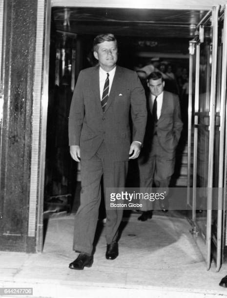 President John F Kennedy leaves the Ritz Carlton Hotel in Boston on Aug 7 1963 His third son Patrick Bouvier Kennedy was born in Falmouth Mass on Aug...