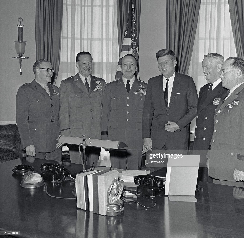 jfk in oval office. President John F. Kennedy Meets With His Joint Chiefs Of Staff In The Oval Office Jfk
