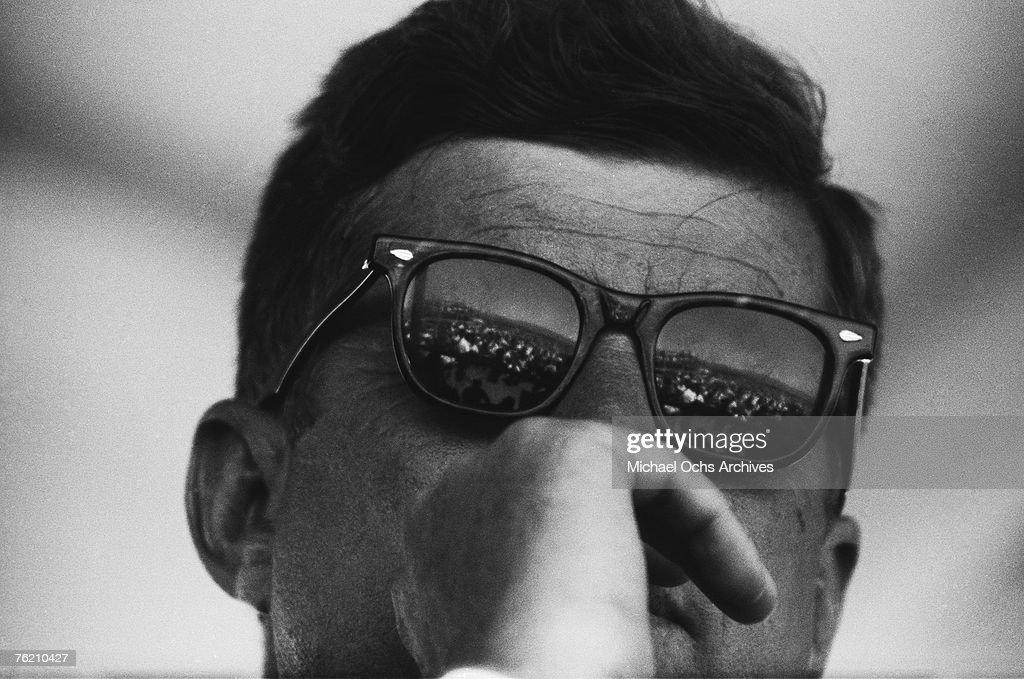 President Kennedy At San Luis Dam : News Photo