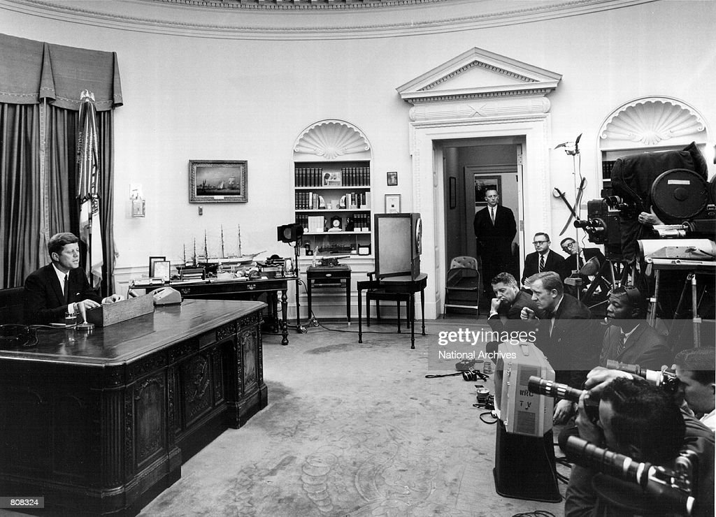 kennedy oval office. John F Kennedy Oval Office. President F. Speaks During A Press  Conference Office H