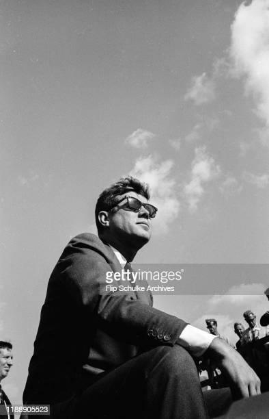 President John F. Kennedy visiting Homestead Air Force Base. Circa 1962.