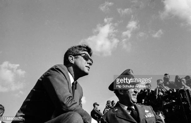 President John F Kennedy visiting Homestead Air Force Base Circa 1962