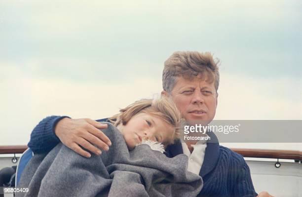President John F Kennedy with family circa 1960s