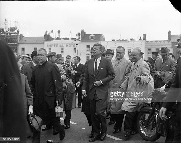 President John F Kennedyin Galway during his visit to Ireland circa June 1963