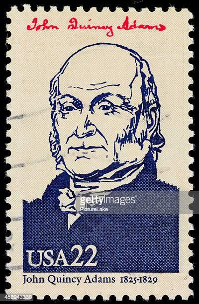 USA President John Quincy Adams postage stamp