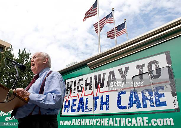 CIO president John Sweeney speaks during a health care reform rally at the labor union headquarters in Washington on Monday afternoon Aug 31 2009 The...