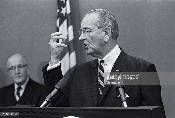 President Johnson in a 23 point anticrime program submitted to Congress today a stepped up federal crack down on drug abuse with LSD as a primary...