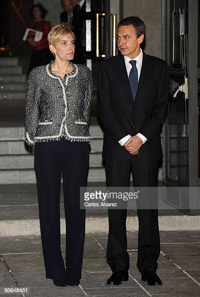 President Jose Luis Rodriguez Zapatero and his wife Sonsoles Espinosa attend Inaugural Gala of the Spanish Presidency of the European Union at the...