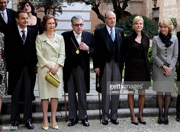 President Jose Luis Rodriguez Zapatero Queen Sofia of Spain Mexican writer Jose Emilio Pacheco King Juan Carlos of Spain Sonsoles Espinosa and...