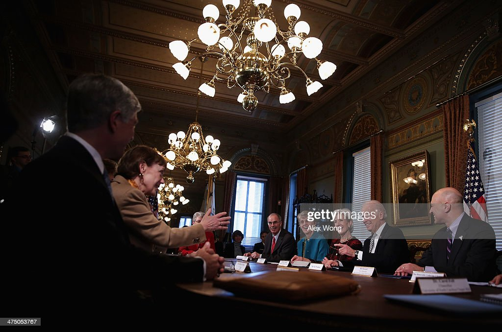 Biden Speaks With Higher Education Officials On Reducing Student Sexual Assaults : News Photo