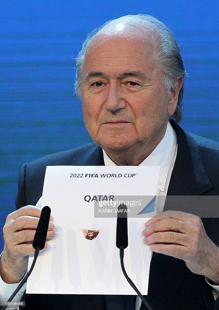 FIFA president Joseph Blatter opens the : News Photo