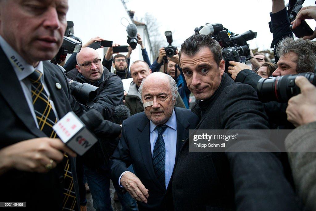 FIFA President, Sepp Blatter Press Conference : News Photo