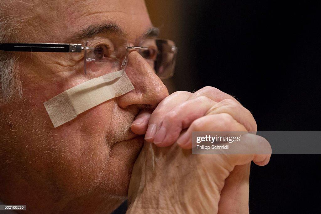 Sepp Blatter Press Conference : News Photo