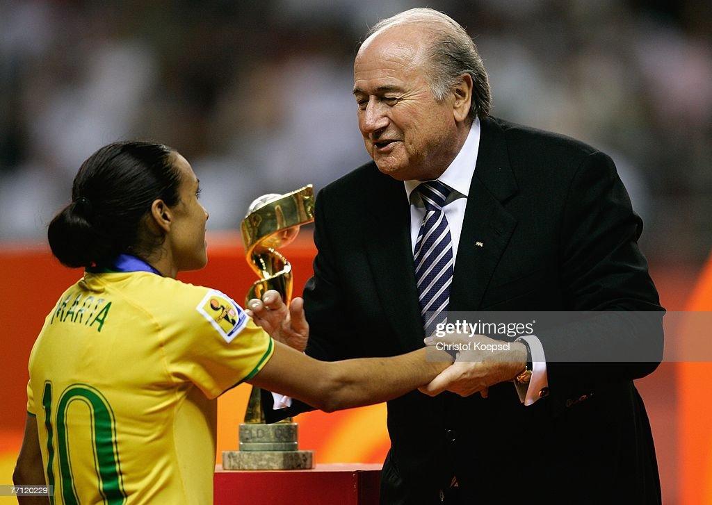 Brazil v Germany - Women's World Cup 2007 Final : News Photo