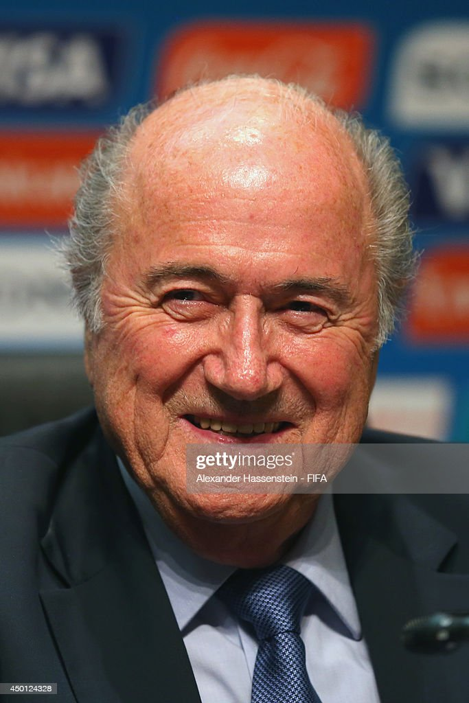 President Joseph S. Blatter looks on during a Press Conference after the 2014 FIFA World Cup Organising Committee meeting at the Grand Hyatt Sao Paulo Hotel on June 5, 2014 in Sao Paulo, Brazil.