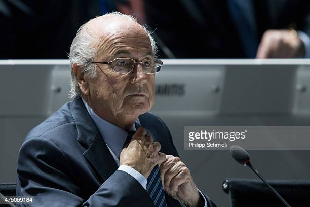 President Joseph S Blatter looks on prior to the 65th FIFA Congress at Hallenstadion on May 29 2015 in Zurich Switzerland