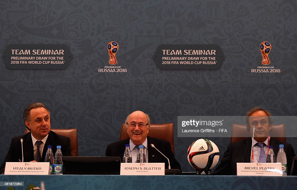 Preliminary Draw of the 2018 FIFA World Cup in Russia - Previews : News Photo