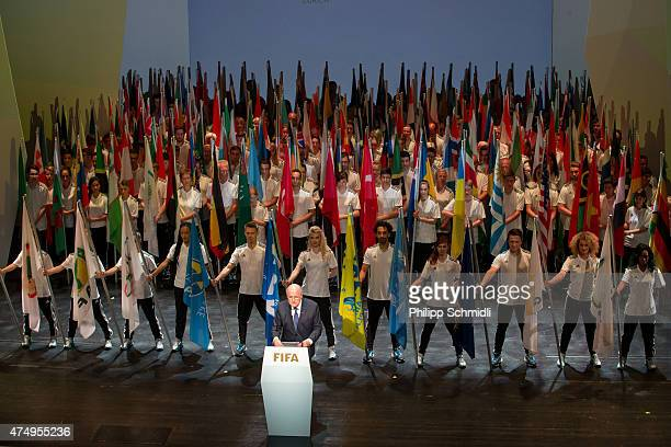 President Joseph S Blatter speaks during the 65th FIFA Congress Opening Ceremony at Theater 11 on May 28 2015 in Zurich Switzerland