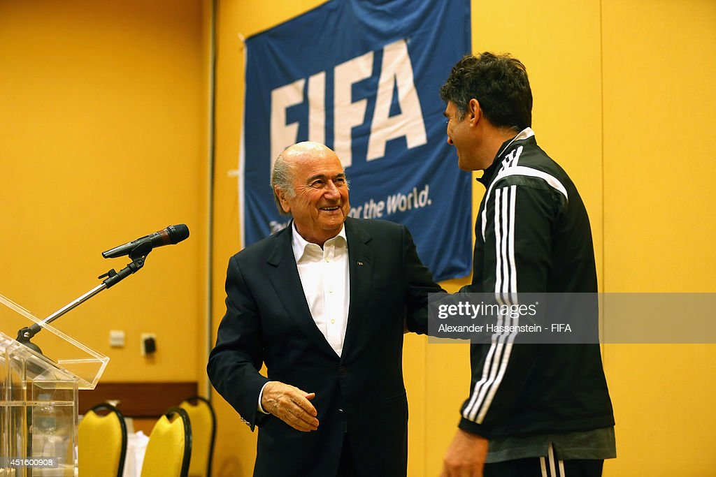 FIFA President Visits Referees HQ- 2014 FIFA World Cup