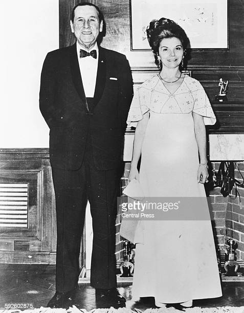 President Juan Peron of Argentina and his wife Isabel Martinez de Peron wearing formal dress during a visit to the President and VicePresident Buenos...