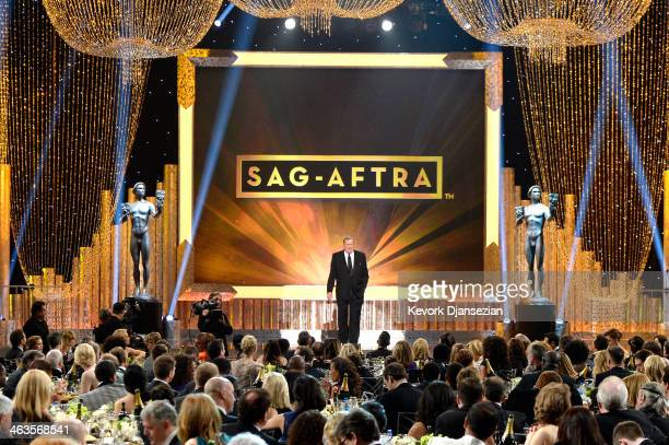 President Ken Howard speaks onstage during the 20th Annual Screen Actors Guild Awards at The Shrine Auditorium on January 18 2014 in Los Angeles...