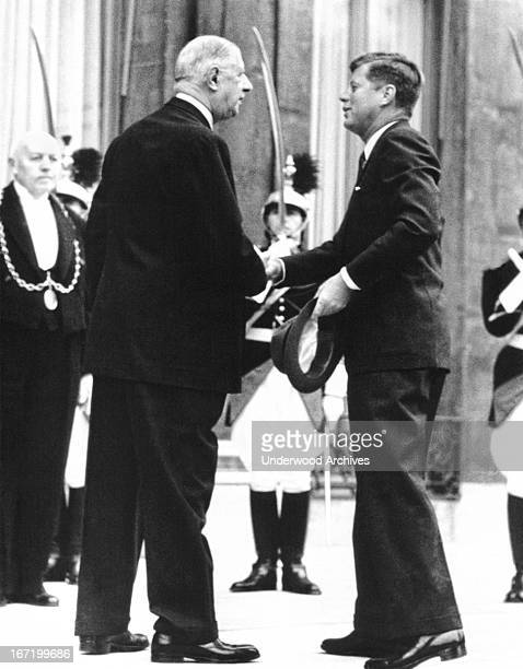 President Kennedy and French President Charles de Gaulle meet at the Vienna Conference Vienna Austria June 1 1961