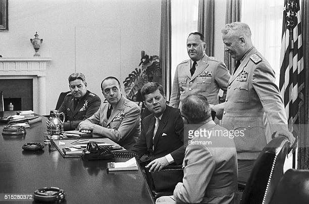 President Kennedy meets at the White House today with the Joint Chief of Staff Yesterday Defense Secretary McNamara said he does not intend to...