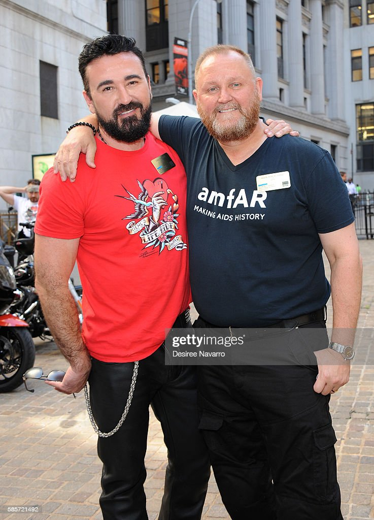 Kiehl's And amfAR Ring The New York Stock Exchange Opening Bell In Honor Of The Kiehl's LifeRide For amfAR