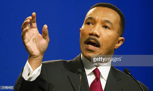 President Kweisi Mfume addresses the association at its 94th annual convention July 14 2003 in Miami Beach Florida Kweisi Mfume used his address to...