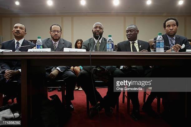 NAACP President Kweisi Mfume Georgetown University Professor Michael Dyson slain teen Trayvon Martin's father Tracy Martin his lawyer Benjamin Crump...