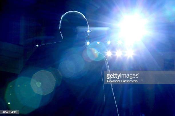 President Lamine Diack arrives for the IAAF Congress Opening Ceremony at the Great Hall of the People at Tiananmen Square on August 18 2015 in...