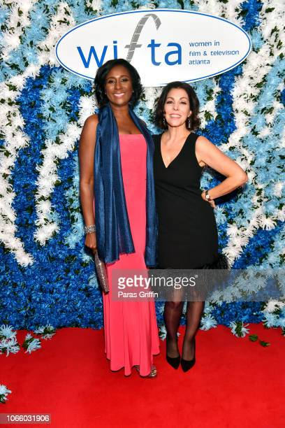 President LaRonda Sutton and Michele Caplinger attend the '2018 Annual Women In Film Television Gala' at 103 West on November 10 2018 in Atlanta...