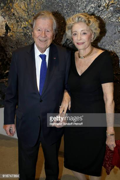 President Lazard Paris Bruno Roger and Ariane Dandois attend the 'Fur Andrea Emo' Anselm Kiefer's Exhibition at Thaddeus Ropac Gallery on February 10...