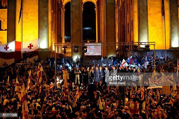 President Lech Kaczynski of Poland President Viktor Yushchenko of Ukraine President Valdas Adamkus of Lithuania President Toomas Hendrik Ilves of...