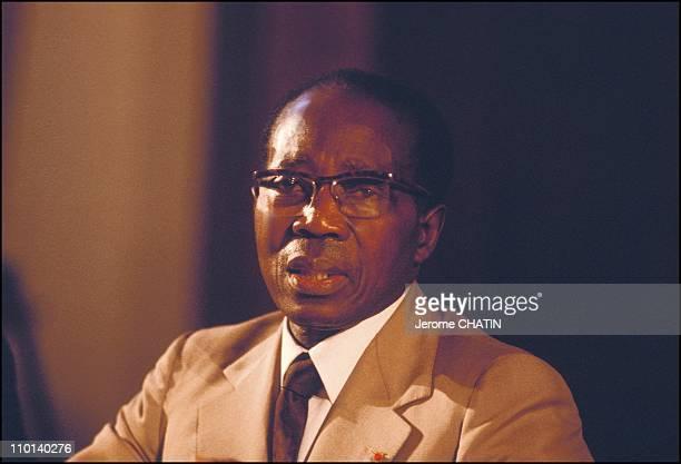 President Leopold Senghor in Mediterranean Dialogues in Marseille, France on September 14, 1980.