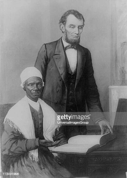 President Lincoln at the White House in 1861 with Sojourner Truth African American abolitionist and champion of women's rights Born into slavery as...