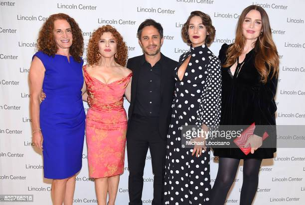President Lincoln Center for the Performing Arts Debora L Spar and actors 'Mozart in the Jungle' Bernadette Peters Gael Garcia Bernal Lola Kirke and...