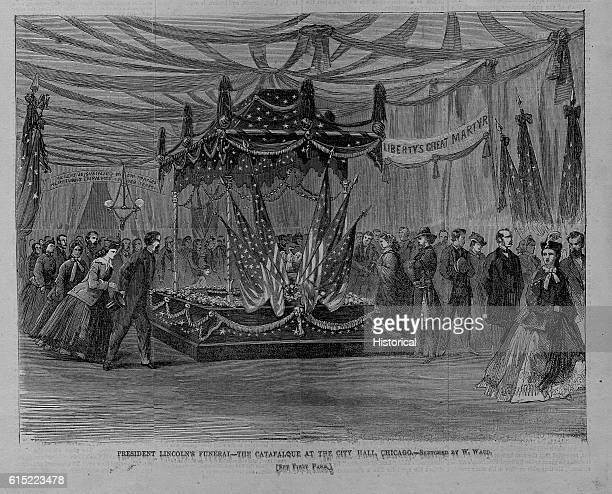 President Lincoln's FuneralThe Catafalque at the City Hall Chicago