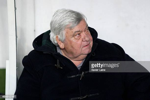 President Louis Nicollin of Montpellier HSC during the French Cup match between Paris SaintGermain FC and Montpellier HSC at Parc Des Princes on...